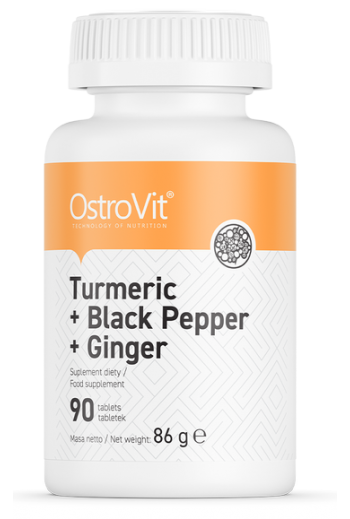 Turmeric + Black Pepper + Ginger 90 tablets /OstroVit