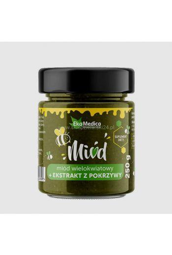Multiflower honey - with nettle extract 250g / Miód wielokwiatowy z ekstraktem z pokrzywy 250g