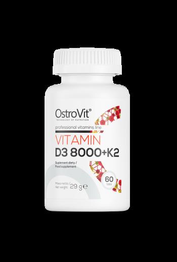 Vitamin D3 8000 IU + K2 60 tablets