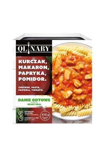 Qlinary Chicken , pasta, paprika & tomato/ Kurczak, makaron ,papryka i pomidor 410g
