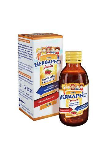 Herbapect Junior, syrup, raspberry flavor, 120 g / Herbapect Junior malinowy 120g