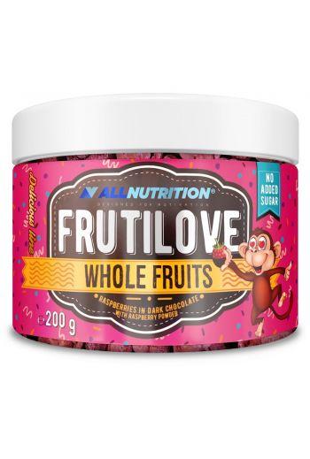 FruitLove Raspberries in dark chocolate with raspberry powder 200g