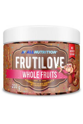 FruitLove Raspberries in milk chocolate with raspberry powder 200g