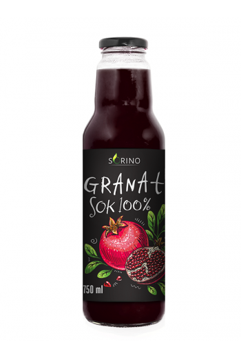 Pomegranate juice 100% 750 ml Sorino / Sok granat 100% 750ml Sorino