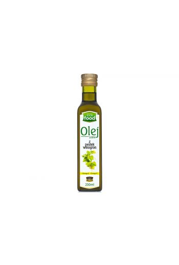 Grape seed oil 100% 250ml / Olej z pestek winogron 100% 250ml ( qty in box 12)/ LOOK FOOD / 09.2019