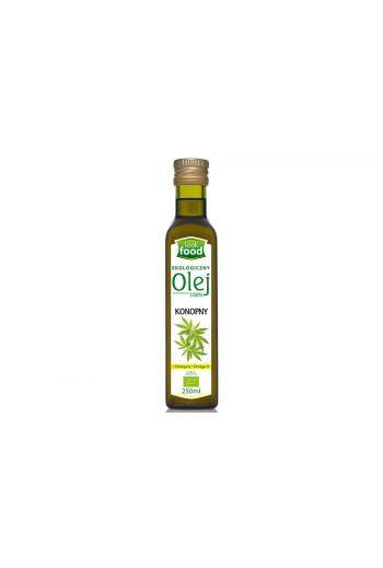Organic Hemp oil 100%  250ml / Olej konopny ekologiczny 100% 250ml (qnt in box 12)  /LOOK FOOD