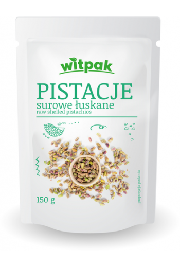 Raw shelled pistachios /Pistacje surowe łuskane 150g