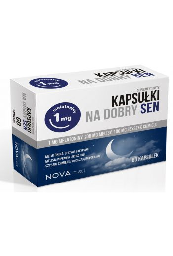 Sleep Capsules Novamed 60 caps/Kapsułki na dobry sen Novamed 60kaps