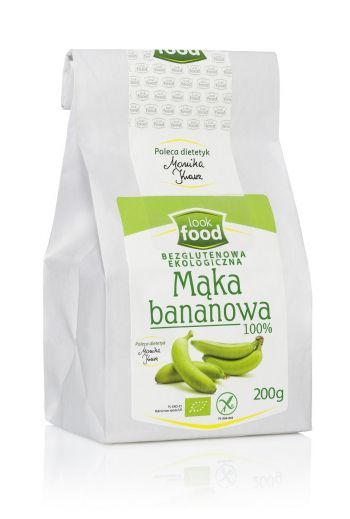 Organic banana flour gluten free 100%  200g / Mąka bananowa ekologiczna bezglutenowa 100% 200g/ LOOK FOOD