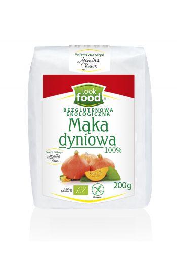 Organic pumpkin flour 100% gluten free 200g / Mąka z pestek dyni bezglutenowa ekologiczna 100% 200g ( qty in box 4)  /LOOK FOOD