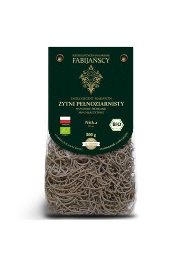 Organic rye pasta light /Ekologiczny makaron żytni jasny nitka