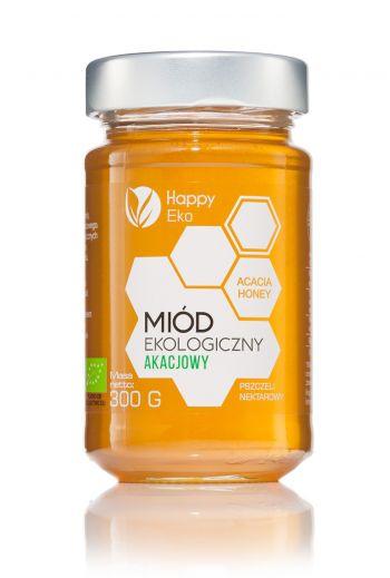 Organic Acacia honey 300g / Miód akacjowy ekologiczny 300g / Happy Eko