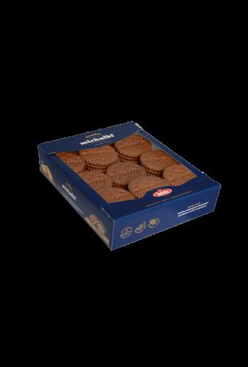 Ciastka Michałki ciemne (Herbatniki kakaowe z kremem arachidowym) 460g / Cocoa cookies with peanut crème 460g