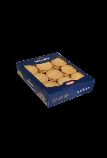 Ciastka Michałki jasne (Herbatniki z kremem arachidowym) 460g / Cookies with peanut crème 460g