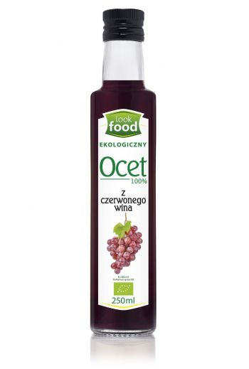 Organic red wine vinegar 100% 250ml / Ocet z czerwonego wina ekologiczny 100% 250ml   /LOOK FOOD