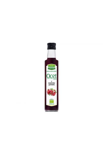 Organic pomegranate vinegar 100% 250ml / Ocet z granatu ekologiczny 100% 250ml ( qty in box 14)  /LOOK FOOD