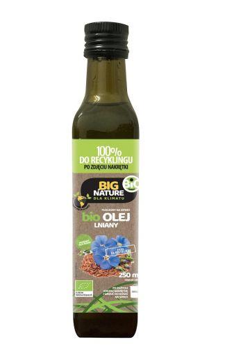 Big Nature bio Linseed oil 250ml/ Big Nature Bio olej lniany 250ml