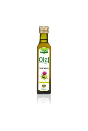 MILK THISTLE OIL 100% 250 ML / OLEJ Z OSTROPESTU 100% 250 ML / ( QTY IN THE BOX 12) / LOOK FOOD