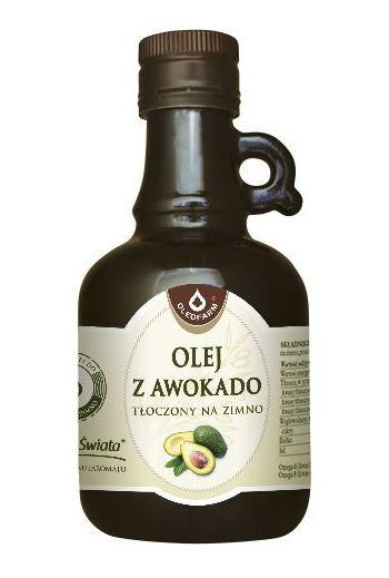 Avocado oil cold-pressed 250ml Oleofarm
