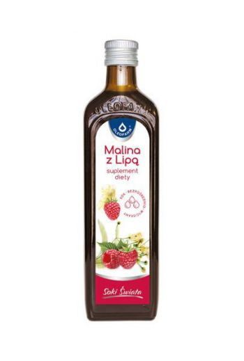 Juice raspberry with linden 490ml / Sok malina z lipą 490ml / Oleofarm