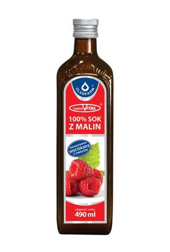 Raspberry juice 490ml / Sok malina 490ml / Oleofarm