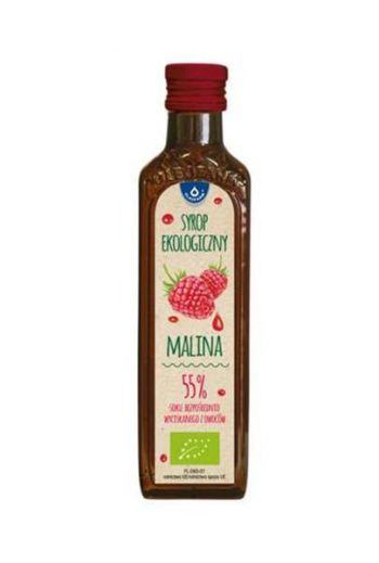 Organic raspberry syrup 250ml / Syrop ekologiczny malina 250ml / Oleofarm