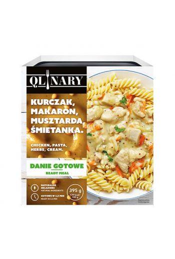 QLINARY chicken, pasta, herbs, cream/ Kurczak, makaron, musztarda, śmietanka