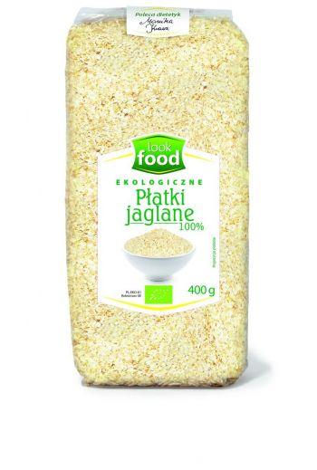 Organic Millet flakes 100% 400g / Płatki jaglane ekologiczne 100% 400g  ( qty in box 10) /LOOK FOOD