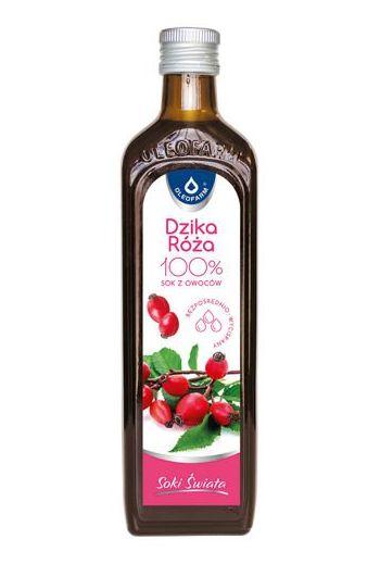 Rosehip juice 490ml / Sok dzika róża 490ml / Oleofarm