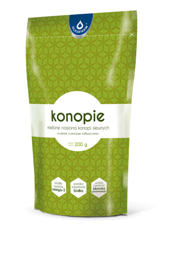 Ground hemp 200g / Konopie mielone 200g / Oleofarm