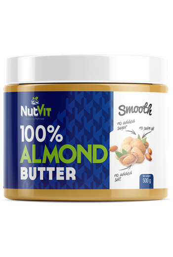 NutVit 100% Almond Butter 500 g-Smooth