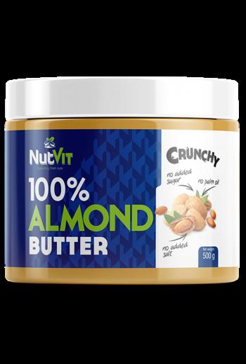 NutVit 100% Almond Butter 500 g-Crunchy /OV