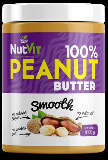 NutVit 100% PEANUT BUTTER1000g-Smooth /OV
