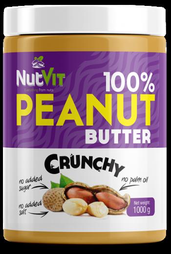 NutVit 100% PEANUT BUTTER1000g-Crunchy /OV