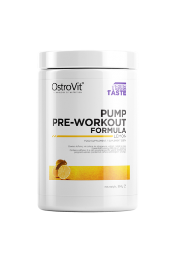 PUMP Pre-Workout Formula 500 g-Lemon