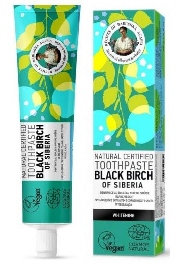 Natural toothpaste whitening- black birch- Naturalna pasta do zębów wybielająca - czarna brzoza