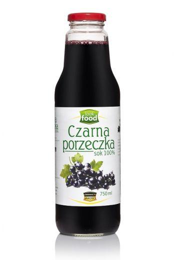 Black currant juice 100% 750 ml / Sok z czarnej porzeczki 100% 750ml  ( qty in box 6)/ LOOK FOOD