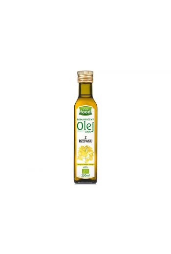 Organic rapeseed oil 100% 250 ml / Olej z rzepaku ekologiczny 100% 250ml (qnt in box 12)   /LOOK FOOD