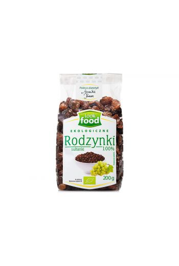 Organic sultanas raisins 100% 200g / Rodzynki sułtanki ekologiczne 100% 200g (qnt in box 9)  /LOOK FOOD