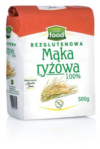 Rice flour 100% gluten free 500g / Mąka ryżowa 100% bezglutenowa 500g  ( qty in box 4)/LOOK FOOD