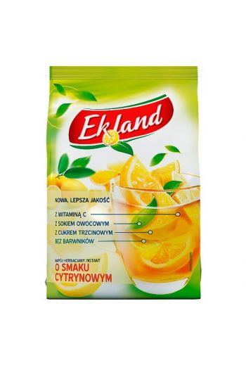 Granulated tea drink drink with lemon flavour and vitamin C 300g / Granulowany napój herbaciany o smaku cytrynowym z witaminą C 300g /  Ekland