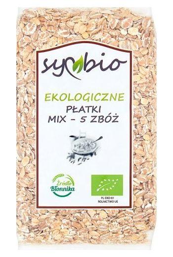 Symbio Bio Mix 5 Grain Cereal 300 g / Ekologiczne Płatki Mix-5 Zboz