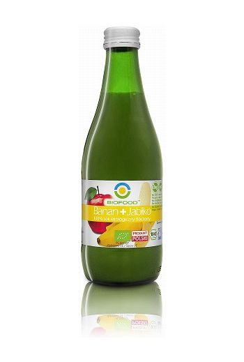 Organic juice banana + apple 300ml/Ekologiczny sok tłoczony banan+ jabłko 300ml