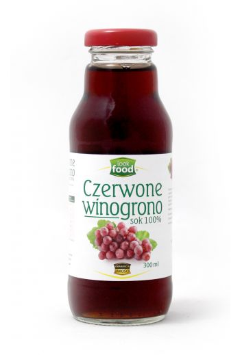 Red grapes juice 100% 300ml / Sok czerwone winogrono 100% 300ml ( qty in box 12 )  /LOOK FOOD