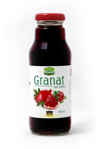 Pomegranate juice 100% 300ml / Sok granat 100% 300ml  ( qty in box 12) / LOOK FOOD