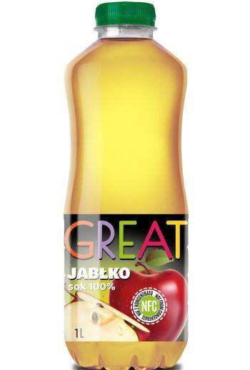 GREAT APPLE JUICE 1L /GREAT  sok z jabłek NFC 1L