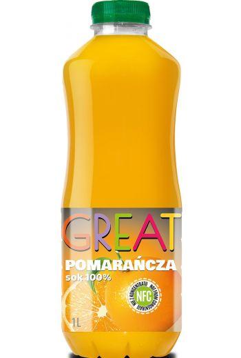 GREAT orange juice 1l / GREAT Sok z pomarańczy NFC 1L
