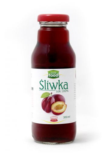 Plum juice 100% 300ml / Sok śliwka 100% 300ml  ( qty in box 12 ) /LOOK FOOD