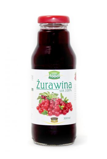 Cranberry juice 100% 300ml / Sok żurawina 100% 300ml (qty in box 12) / LOOK FOOD