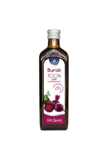 Beetroot juice 100% 490ml / Sok burak 100% 490ml / Oleofarm